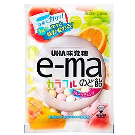 【UHA味覺糖】e-ma七彩水果喉糖(袋裝)(50g)