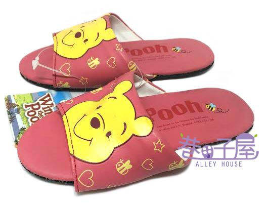 【巷子屋】Winnie the Pooh小熊維尼 童款大頭造型室內拖鞋 粉紅 MIT台灣製造 超值價$100