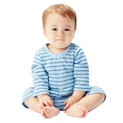 【NISSEN】童裝|輕柔絎縫蛙腿式連身衣