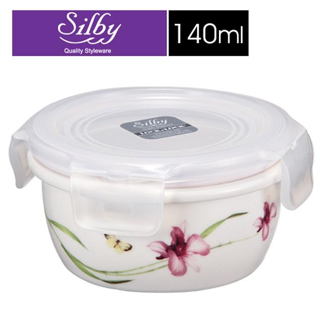 【樂扣樂扣】Silby典雅陶瓷保鮮碗/140ML(蘭花)