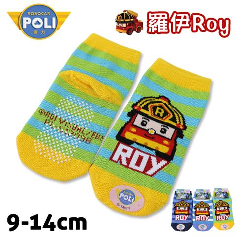 直版童襪 救援小英雄波力 羅伊 消防車條紋款 台灣製 POLI