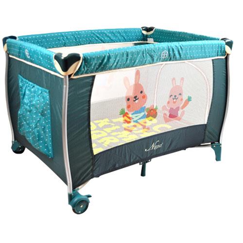 【奇買親子購物網】Nipper 雙層遊戲床(點點紅/點點綠)