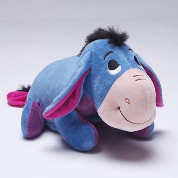 免運【禾宜精品】迪士尼 小驢屹耳 多功能玩偶毯 玩偶 毛毯 枕頭 Zoobies Disney Eeyore  YZB114
