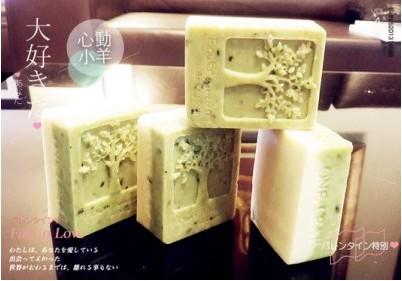 心動小羊^^耐高溫四孔幸福樹模具DIY手工皂模具韓國矽膠模具搖錢樹模具