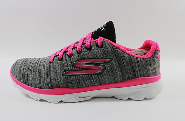 SKECHERS 女款 運動系列 GO FIT TR - 14094BKHP 健身房健身訓練 (灰X粉) [陽光樂活]