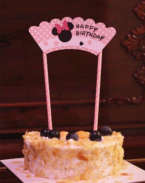 =優生活=米奇 米妮兒童生日派對裝飾拉旗 生日蛋糕插旗拉旗拉花裝扮用品 婚慶婚禮裝飾 野餐派對 情人節裝飾