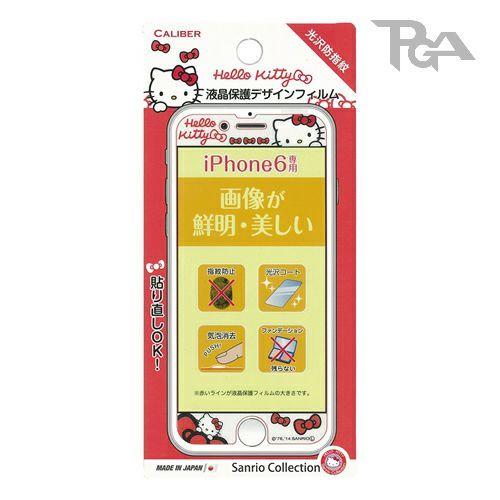 【真愛日本】16042200010I6螢幕保護貼-KT紅  三麗鷗 Hello Kitty 凱蒂貓  保護膜  螢幕貼 正品