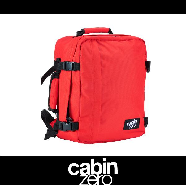 【買就送隨身腰包】CABIN ZERO 151-CZ081301 輕量28L後背包 登機 假期 公事 手提 多用途 可上密碼鎖 國際背包身分證 紅色 萬特戶外運動