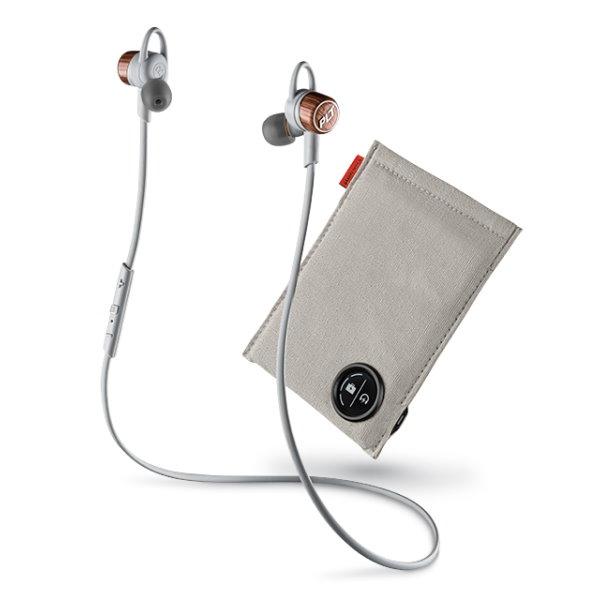 《育誠科技》『Plantronics BackBeat GO3+充電包 時光銅/灰色 精裝版』繽特力耳道式音樂藍牙耳機藍芽3.0/HD/防潮防汗/電量顯示/另售jabra rox