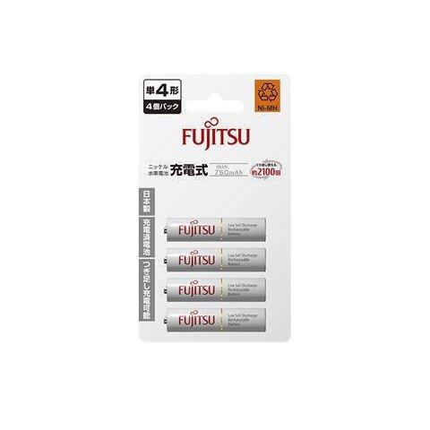 *╯新風尚潮流╭* Fujitsu富士通 750mAh 四號四入 鎳氫充電電池 可充2100次 HR-4UTC(4B)