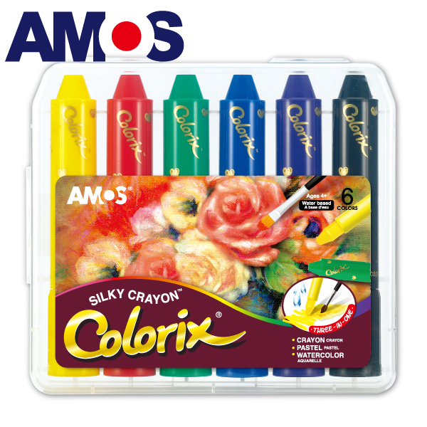 韓國AMOS 6色粗款神奇水蠟筆(台灣總代理公司貨)