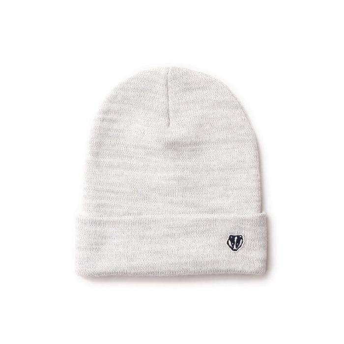►法西歐_桃園◄ Filter017 Knitted Beanie 麻花 電繡 獾 白 灰 黑 針織 編織 毛帽 白色