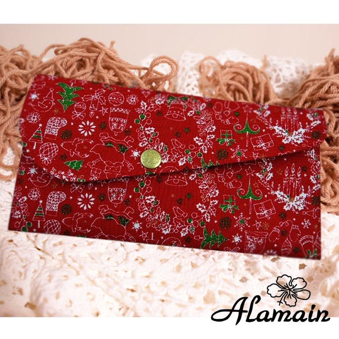 福氣袋_艾拉蔓_白色聖誕_進口布紅包袋、布包、環保招財袋、存褶包、鈔票夾、、手創錢袋、手作錢包收藏袋收納袋_采靚精品鞋飾