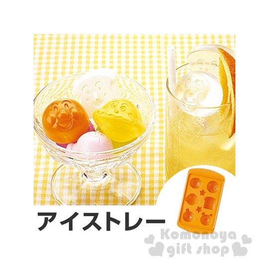〔小禮堂〕麵包超人 日製造型製冰模《橘.大臉.朋友》一個可做六顆