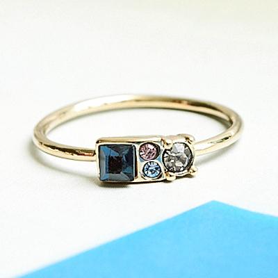 〔APM飾品〕日本Kaza 晶礦拼盤迷幻絢彩戒指 (透明系) (深色系)