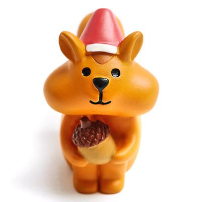 〔APM飾品〕溫馨團員歡樂聖誕派對擺飾-貪吃松鼠