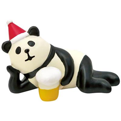 〔APM飾品〕溫馨團員歡樂聖誕派對擺飾-貓熊的啤酒饗宴