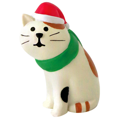 〔APM飾品〕溫馨團員歡樂聖誕派對擺飾-三毛貓的聖誕心願