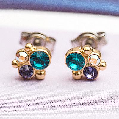 〔APM飾品〕日本Kaza 優雅奢華泡沫光影耳環 (抗過敏)