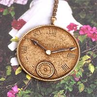 〔APM飾品〕日本Luccica 羅馬假期古典時鐘項鍊