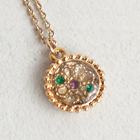 〔APM飾品〕日本Luccica 世紀禮讚皇室家徽鈕扣項鍊