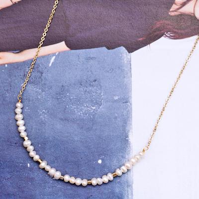 〔APM飾品〕日本Luccica 綺麗光輝聖潔珍珠項鍊 (抗過敏)