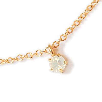 〔APM飾品〕日本Lilou 6月份誕生石色澤水晶玻璃項鍊 (蛋白石)