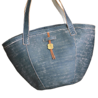 〔APM飾品〕日本 arome de muguet 優雅歐風貴族莊園鄉村皮革手提包 (藍款) (本商品不適用於7-11門市取件)