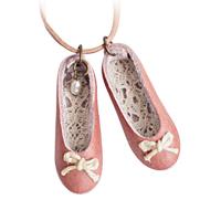 〔APM飾品〕日本 arome de muguet 芭蕾女孩溫馨舞鞋皮革繩項鍊