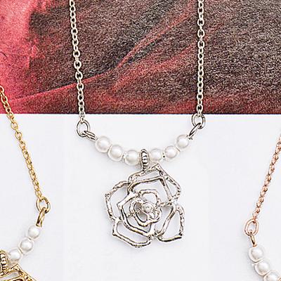 〔APM飾品〕日本 apm嚴選 玫瑰花語珍彩香氛項鍊