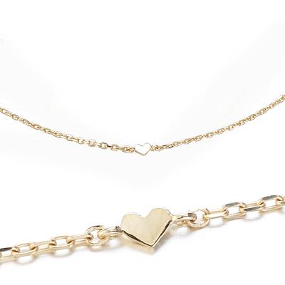 〔APM飾品〕日本Freesia (單顆心)真摯不渝恆久之心10K金纖細手鍊 (輕珠寶)