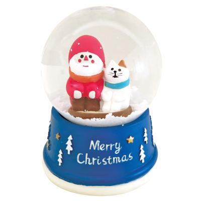 〔APM飾品〕銀白聖誕雪花紛飛水晶球