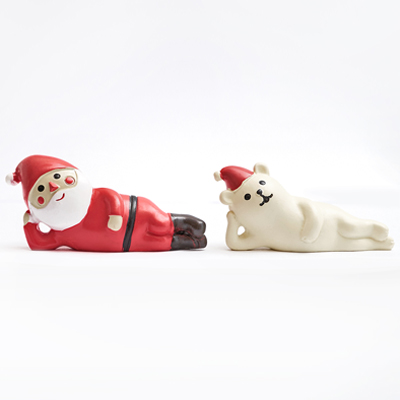 〔APM飾品〕聖誕老人與北極熊的聖誕派對 - 慵懶側躺