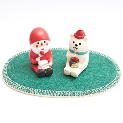 〔APM飾品〕聖誕風情兩面用橢圓地毯