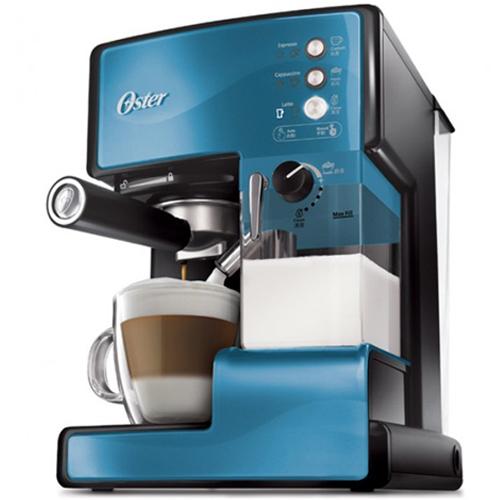 OSTER 美國  第二代奶泡大師 義式咖啡機 BVSTEM6602 B 礦藍 PRO升級版 買就送雙層不銹鋼保溫飯盒