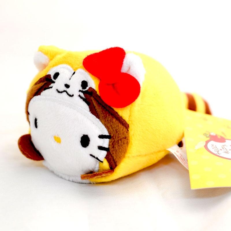 Hello Kitty 小浣熊 聯名 小沙包玩偶 日本帶回正版品 puchi Rascal