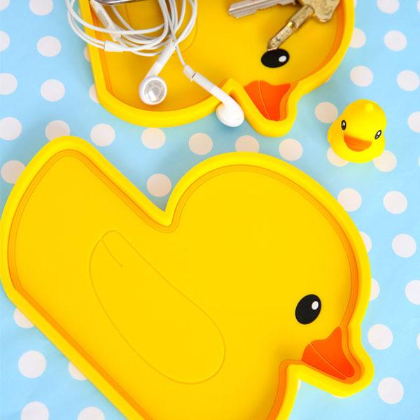 黃色小鴨矽膠托盤 Yellow Duck 黃色小鴨 小鴨 實用托盤 矽膠 找錢盤 置物托盤【B06129】