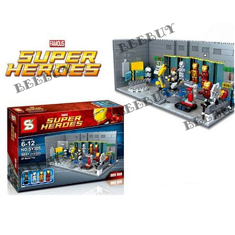 SY305 鋼鐵人地下實驗室基 /相容 樂高 LEGO 積木另有旋風忍者