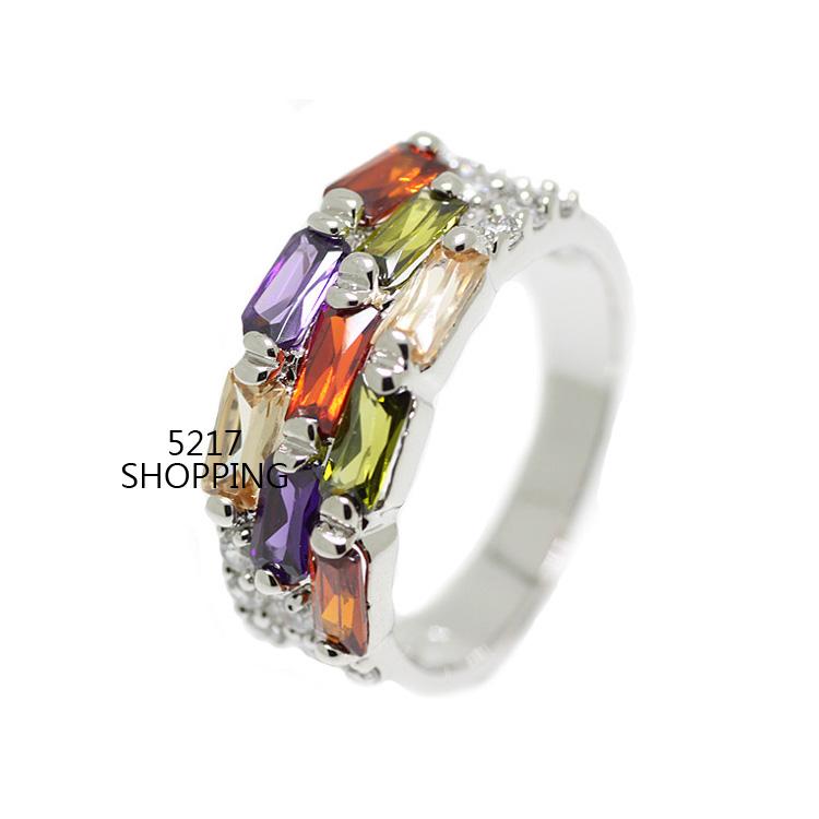 流行時尚鋯石戒指 宴會 派對 生日禮物 情人節禮物 5217SHOPPING R15