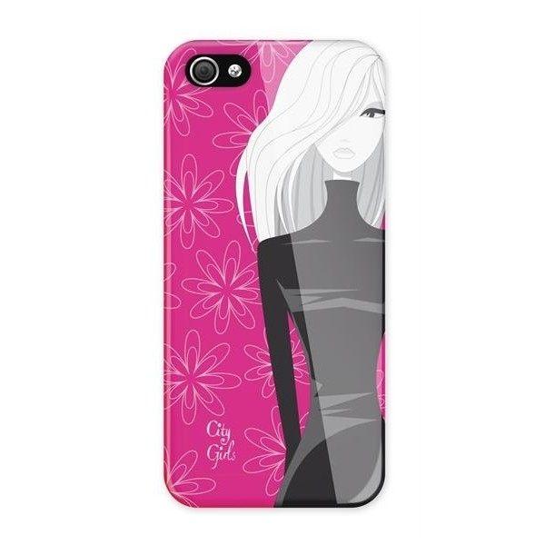 【愛瘋潮】西班牙進口 歐美授權品牌 City Girls iPhone SE / 5 / 5S 專用 主題時尚保護殼(桃色)