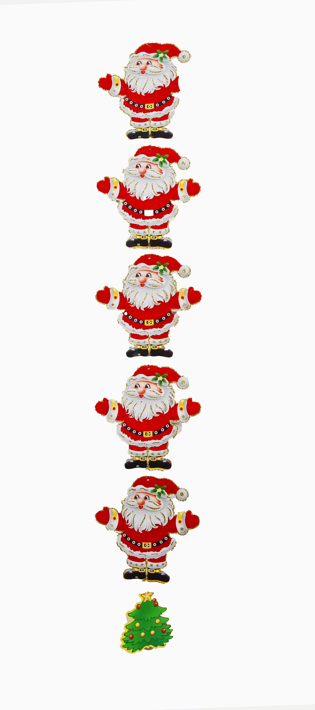 X射線【X388736】直掛老公公英文字吊飾,聖誕節/聖誕樹/聖誕佈置/聖誕掛飾/裝飾/掛飾/會場佈置/DIY/材料包
