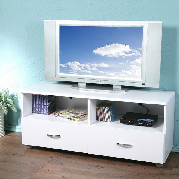 二抽4尺電視櫃(純白色)