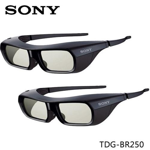 【快搶貨】SONY TDG-BR250  BRAVIA 液晶電視 專用3D 眼鏡兩隻組 (黑)