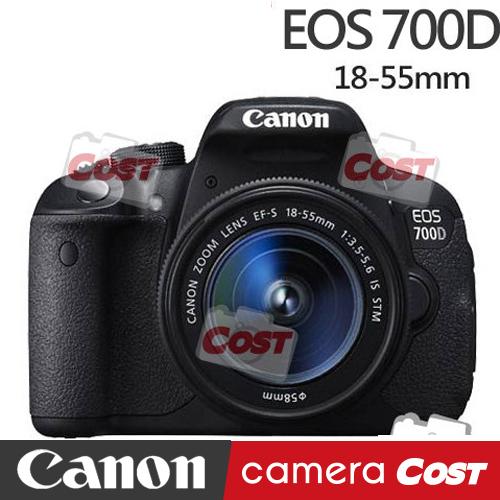 【送32G副電原廠包快門線背帶豪華禮】Canon EOS 700D 18-55 公司貨