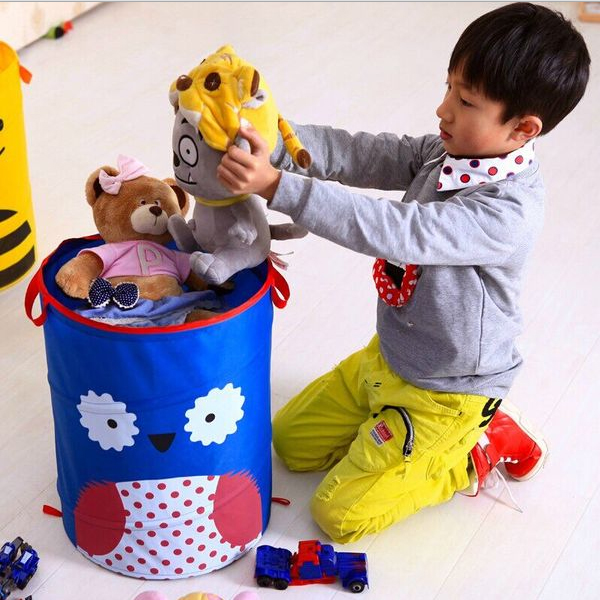 卡通摺疊玩具收納桶