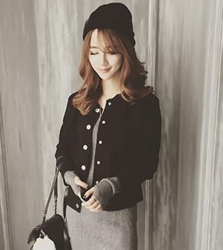 2015秋冬새로운韓式簡約短版夾克十天預購+現貨