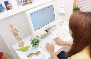 韓版創意DIY電腦液晶螢幕多功能收納架-桌面整理收納專用 多功能桌上置物架