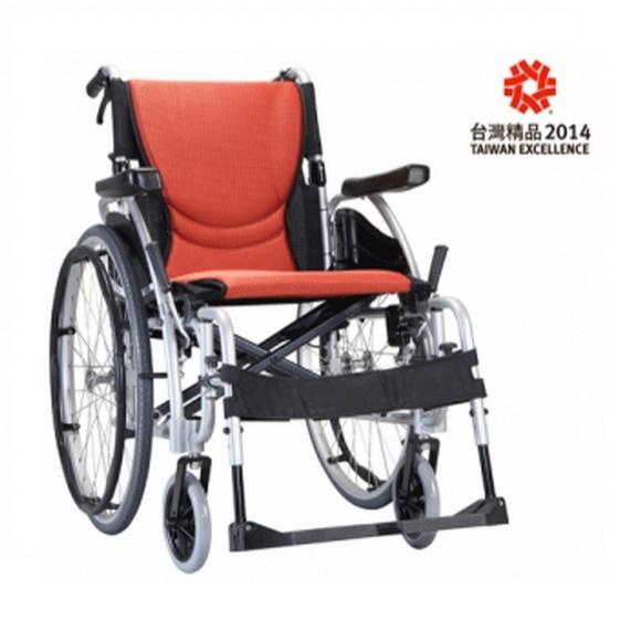 【康揚】S曲面型座墊輪椅舒弧125(KM-1520.3) ~ 超值好禮2選1