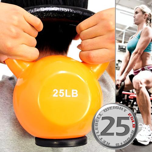 KettleBell包膠25磅壺鈴(橡膠底座)浸膠25LB拉環啞鈴.搖擺鈴.舉重量訓練.運動健身器材.推薦