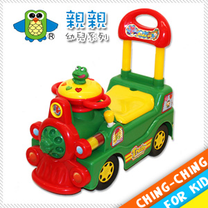 火車學步車(綠)(兒童助步車.ST安全玩具.寶寳滑行車手推車.滑步車學行車.四輪推車.騎乘玩具車)